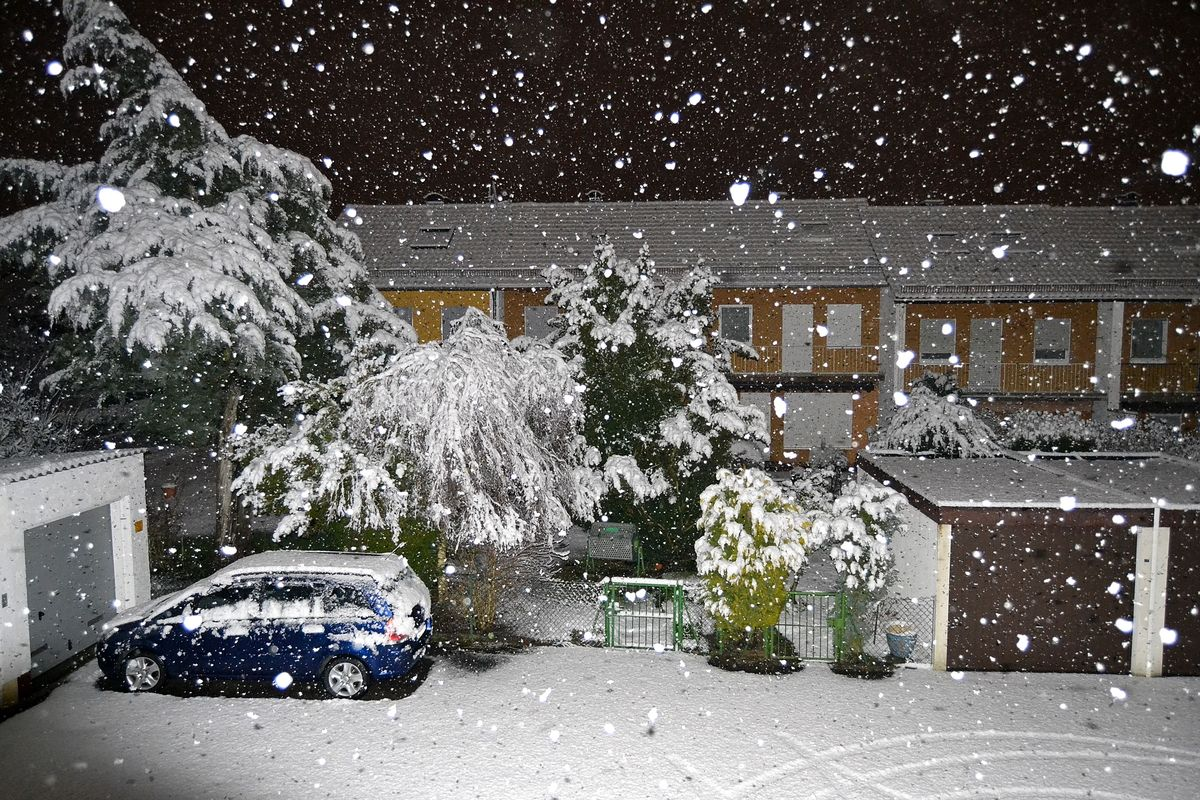 Bei Uns In Der Nahe Der Erste Schone Schnee Fotocommunity To