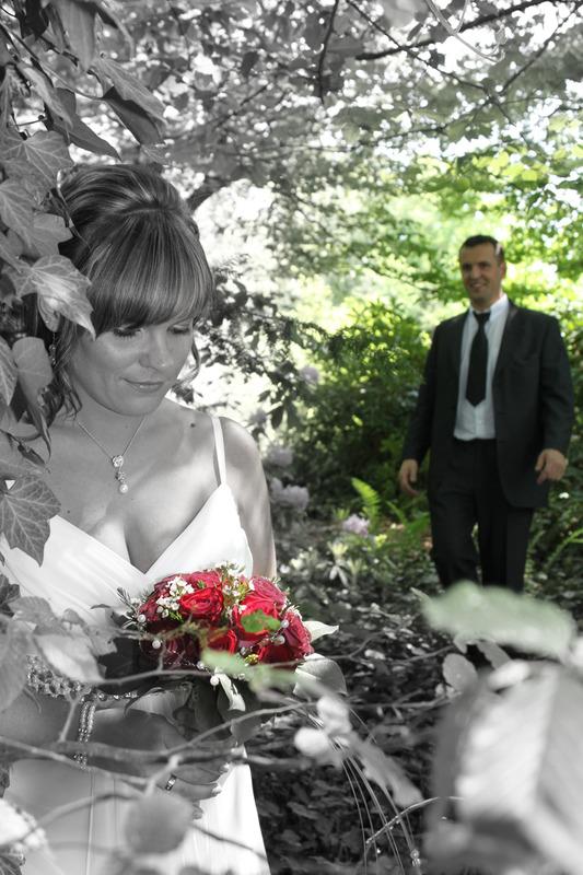 Schwarz Weiss Fotografie Mit Farbe Hochzeit Portrait Lichtenstein