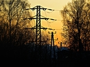 Power supply in the sunset